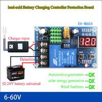Контроль заряда свинцово - кислотного аккумулятора 6V - 60V