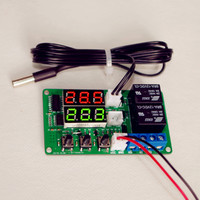 Сдвоенный цифровой термостат DC 12V с диапазоном температур от -20 до +100 градусов