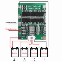 BMS модуль заряда 4S Li-ion 18650 с током 30A и балансировкой