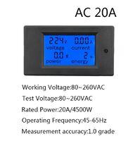 PZEM-021 измеритель AC220V / 20А переменного напряжения, тока, ваттметр, счётчик Вт/ч.