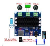 Стерео усилитель 2 х 15вт со встроенным Bluetooth 5.0