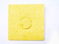 Губка типовая к паяльным станциям 55X55 жёлтая