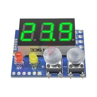 DC 0-100В светодиодный цифровой вольтметр с настраиваемым верхним и нижним пределом.