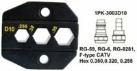 1PK-3003D10 Pro'sKit Губки сменные для обжима коаксиального кабеля (RG-59, RG-6, RG-8281) и разъемов F-типа категории V