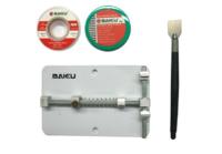 Зажим плат BAKU BK689D +оплетка(2шт)+шпатель