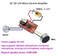 Микрофонный усилитель для конденсаторного микрофона DC 3,5V - 12V