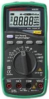 Мультиметр с автоматическим выбором диапазона со встроенными шумометром, люксметром и гигрометром Mastech MS8209
