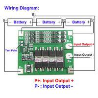 BMS контроллер заряда 3S Li-ion батарей 18650 с током 25A и балансировкой.