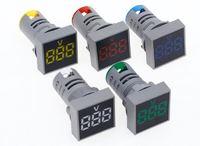 Вольтметр AC 20-500V цифровой светодиодный квадратный дисплей