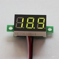 Вольтметр мини DC 3.0 - 100V встраиваемый трёхпроводной