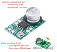 Микро аудио усилитель мощности LM386 с питанием DC 3V ~ 12V
