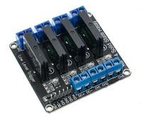 4х канальный DC 3V - 24V твердотельный релейный модуль 220 В 2A для Arduino