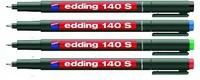 Маркер edding 140S, D=0,3 мм (для надписей на ПВХ, набор - 4 цвета)