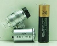 Микроскоп с подсветкой (2 лампы + детектор) №9882 (X09)