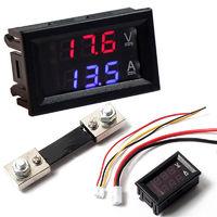 Вольтамперметр постоянного DC 0 - 100V 100A тока с выносным шунтом