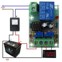 Блок контроля заряда аккумуляторной батареи 12 вольт