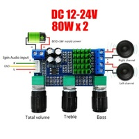 TPA3116D2 усилитель 2 х 80 вт. с предусилителем и темброблоком.