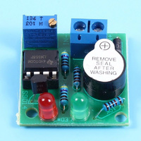 Звуковой и световой сигнализатор разряда аккумулятора 12V